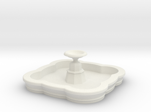 Medium N/OO Scale Fountain in White Natural Versatile Plastic: 1:160 - N