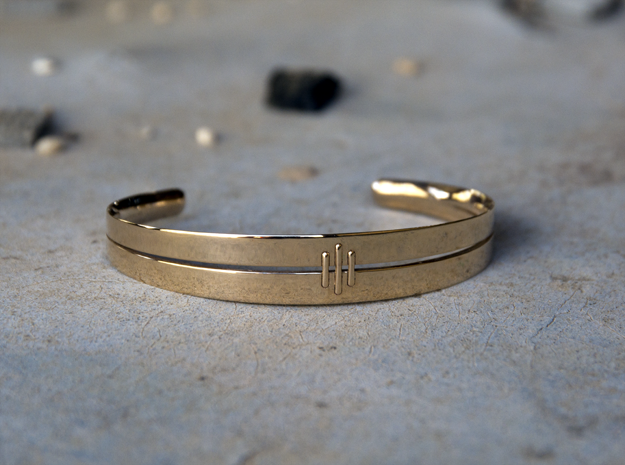 Stitch Bracelet in 14k Rose Gold Plated Brass: Small