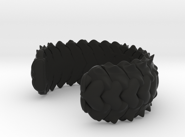 HYBRID CUFF  in Black Natural Versatile Plastic: Small