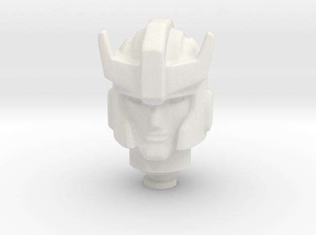 Prowldimus Prime head-23mm-nek-5mm in White Natural Versatile Plastic