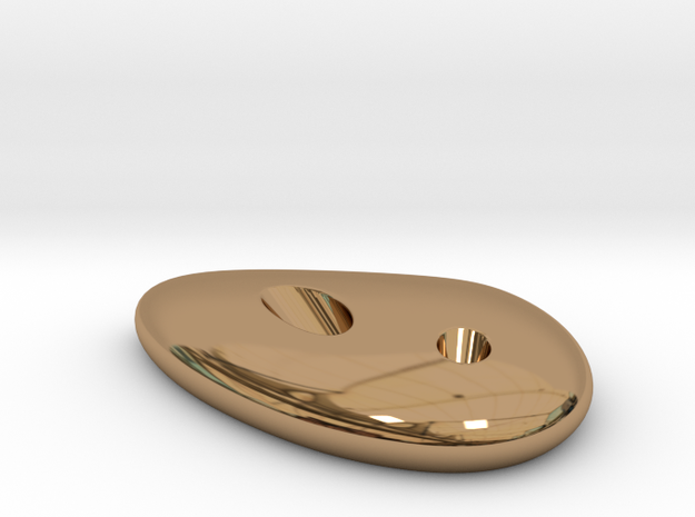 DROP pencil holder 85x60x15mm in Polished Brass