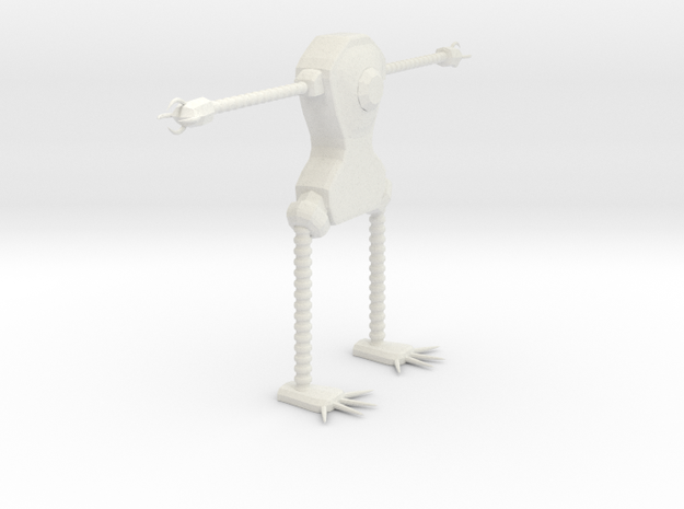 Clawrobot in White Natural Versatile Plastic: Small
