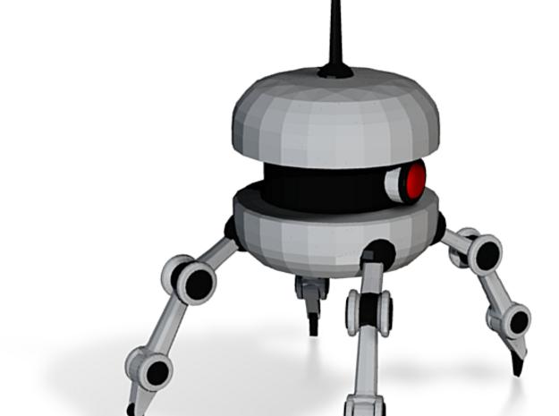 Burger Spy Bot  in White Natural Versatile Plastic: Small