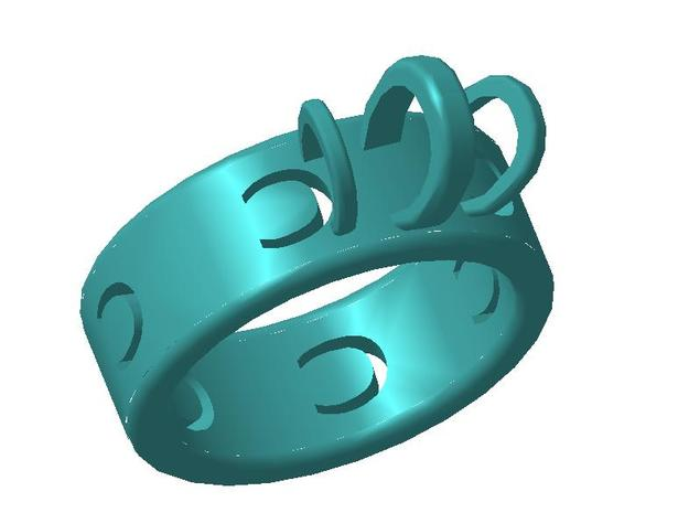 Ring horseshoe 3d printed Ring horseshoe