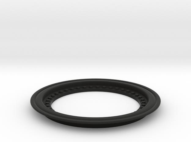 2651 - Tribute wheel, Tru-Fit beadlock - glue-in in Black Natural Versatile Plastic