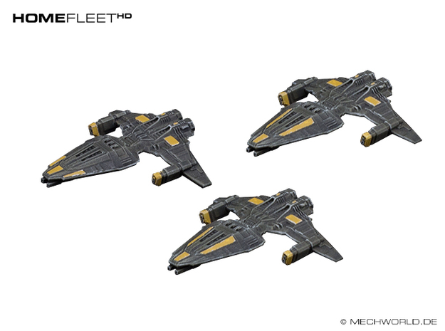 HOMEFLEET Frigate Squadron - 3 ships in Smooth Fine Detail Plastic