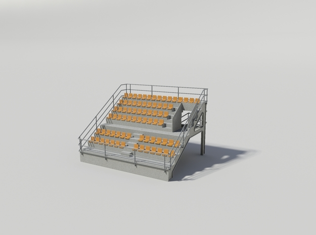 Grandstand uncovered, ideal for slot car track in White Natural Versatile Plastic