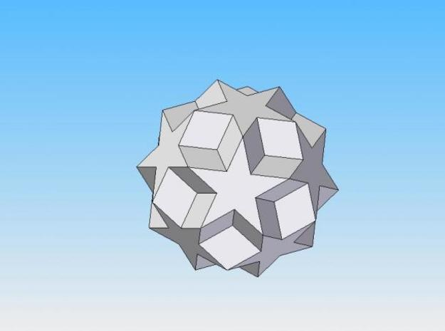 Dodecadodecahedron 3d printed Solid Edge render