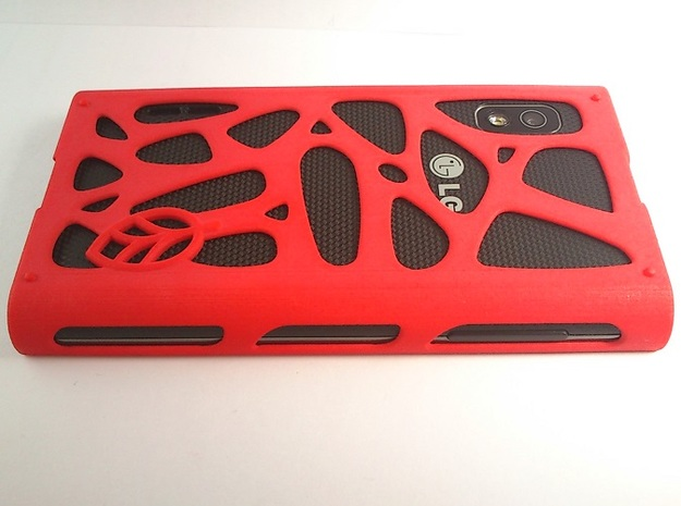 LG Optimus L5 mesh case 3d printed