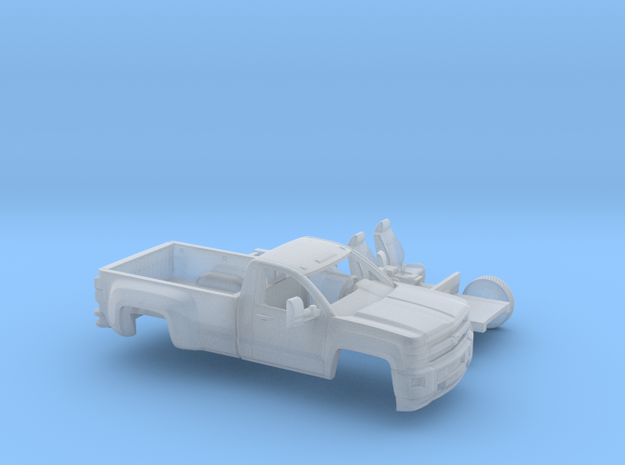 1/87 2015 Chevrolet Silverado HD Reg. Cab Long Bed in Smooth Fine Detail Plastic