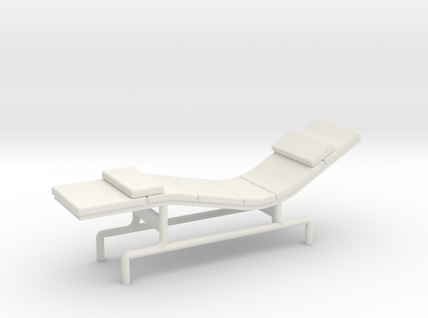 1:48 Eames Chaise in White Strong & Flexible