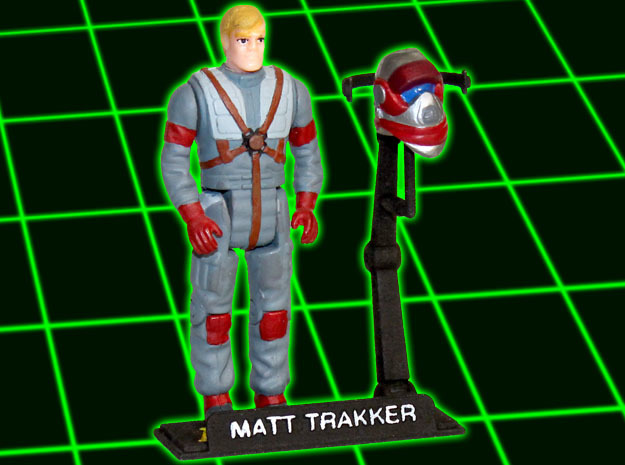 MASK Figurestand with customizable nametag in White Processed Versatile Plastic