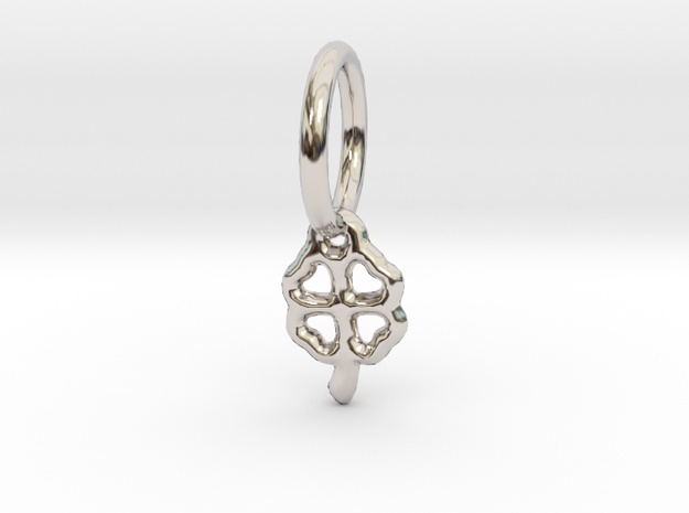 lucky Pendant in Rhodium Plated Brass
