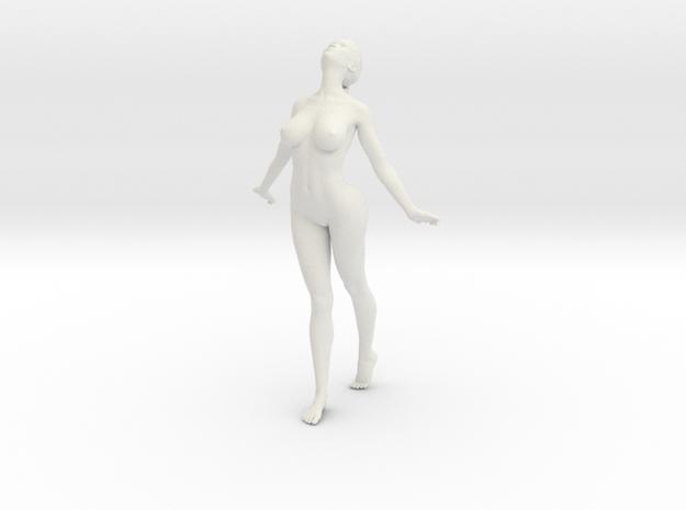 Long Ponytail Girl-033 in White Natural Versatile Plastic