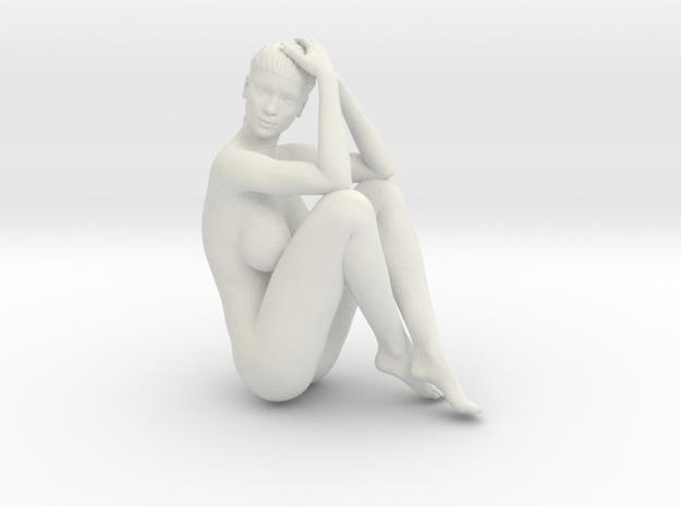 Long Ponytail Girl-070 in White Natural Versatile Plastic