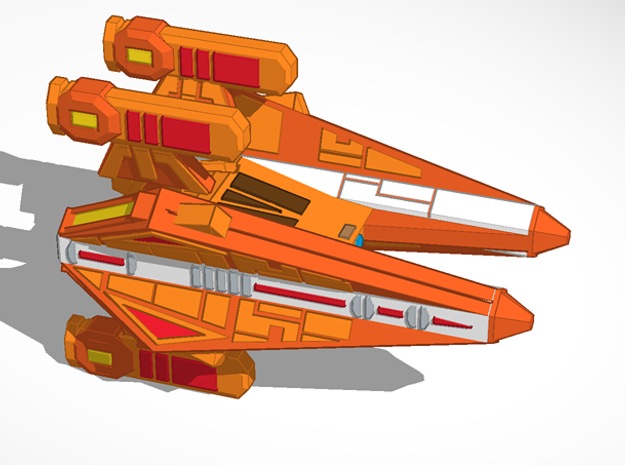 Thorlian Y8 Fast Cruiser in Orange Processed Versatile Plastic