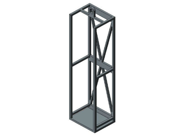 1/87 HO concrete preform cage holders in Smooth Fine Detail Plastic