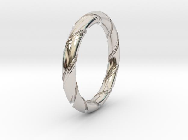 Bernd - Ring in Rhodium Plated Brass: 6 / 51.5
