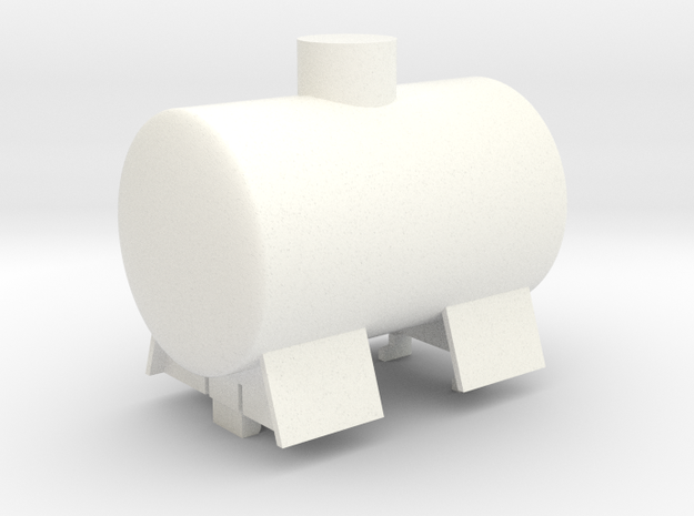 Gnomy Tank Wagon in White Strong & Flexible Polished