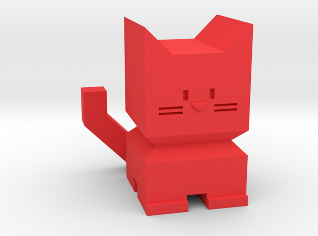 BoxyCat in Red Processed Versatile Plastic