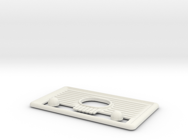 Fallout 4 Radio Faceplate And Knobs in White Natural Versatile Plastic