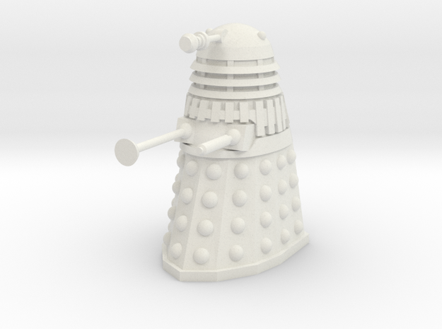 Dalek Mk III - Neutral Pose in White Strong & Flexible