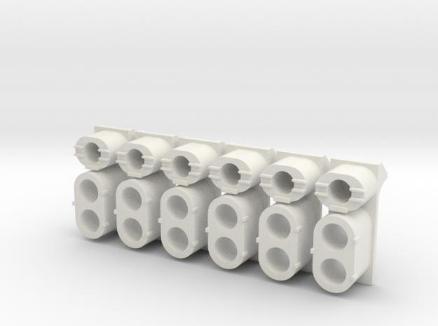 SP High Hood Cluster (G - 1:29) in White Natural Versatile Plastic