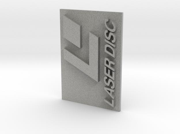 Laser Disc Logo in Metallic Plastic