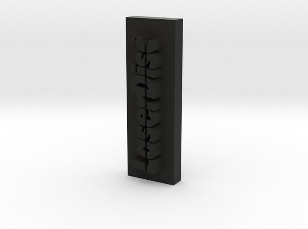 Laser Disc Sliced  in Black Strong & Flexible