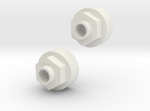 Tamiya ORV Rear Wheel hubs for HPI wheels  in White Strong & Flexible
