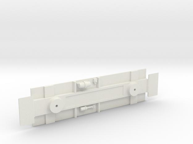 Underframe Caboose  in White Natural Versatile Plastic