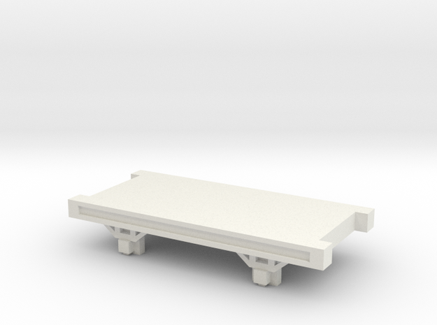 OO9 NG Truck / Wagon Chassis in White Natural Versatile Plastic