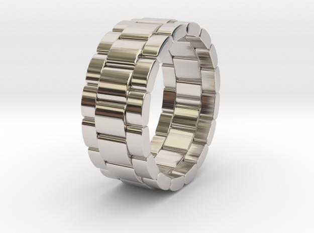 Tibalda - Ring in Rhodium Plated Brass: 6 / 51.5