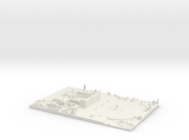 Buckingham Palace Map, London in White Natural Versatile Plastic