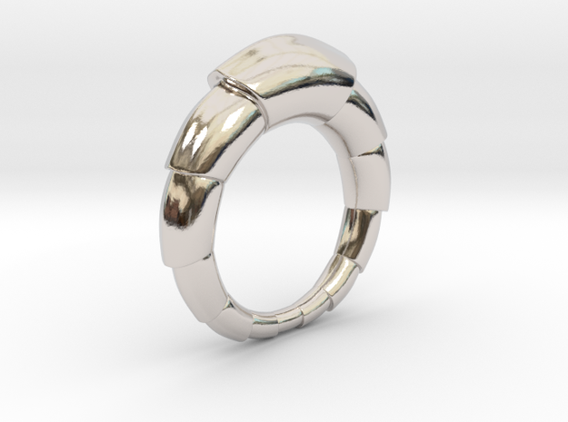 Mats - Ring in Rhodium Plated Brass: 6 / 51.5