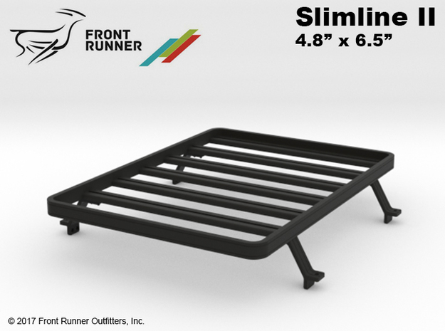 FR10025 Slimline II Bed Rack 4.8 x 6.5 in Black Natural Versatile Plastic