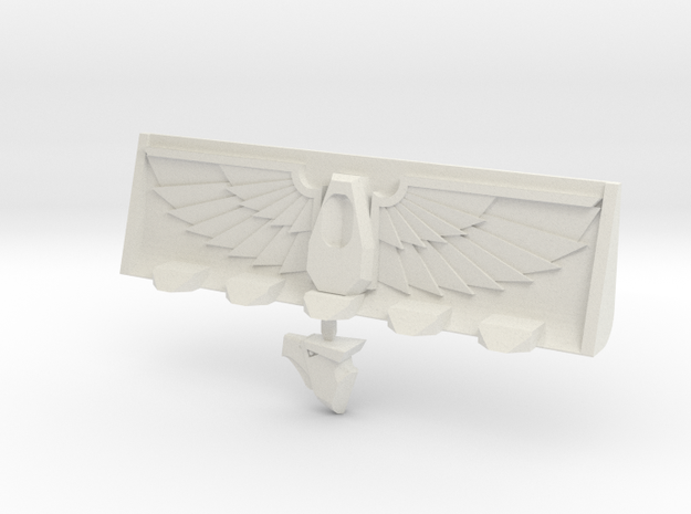 Devotional Eagle Bulldozer Blade in White Natural Versatile Plastic