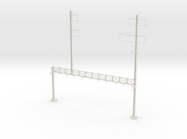 PRR LATTICE POLE NORTH PHILLY CUSTOM STAG 5 TALL I in White Natural Versatile Plastic