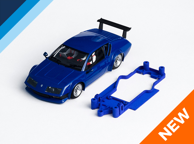 1/32 Avant Slot Alpine A310 Chassis for Slot.it AW in Blue Strong & Flexible Polished