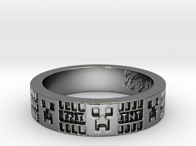 Creeper Ring in Polished Silver