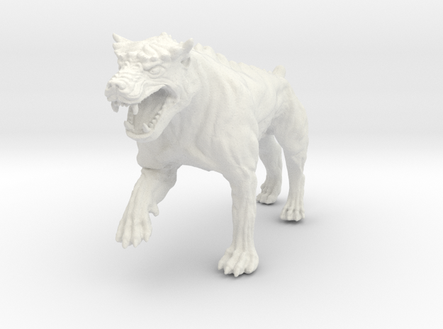 Dungeon Dog: Warrior in White Strong & Flexible