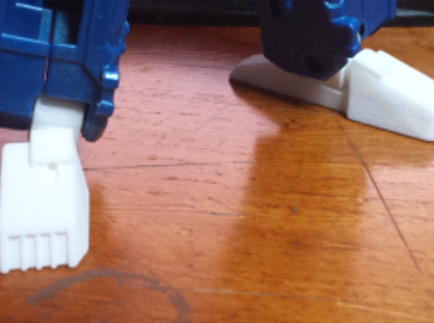 Classics Truck Leader Feet and Ankles (Tall) in White Strong & Flexible Polished