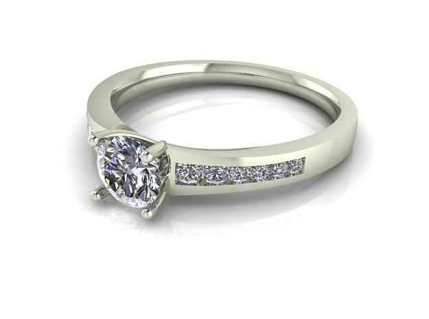 Classic Solitaire 16 NO STONES SUPPLIED in Fine Detail Polished Silver