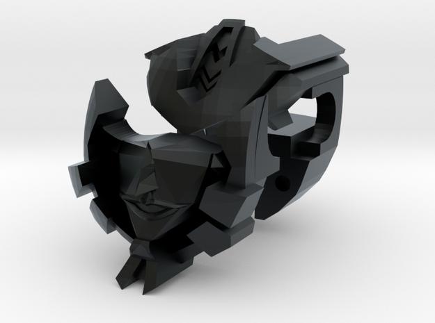 Nautical Femmebot head (Black Acrylate parts) in Black Hi-Def Acrylate: Small