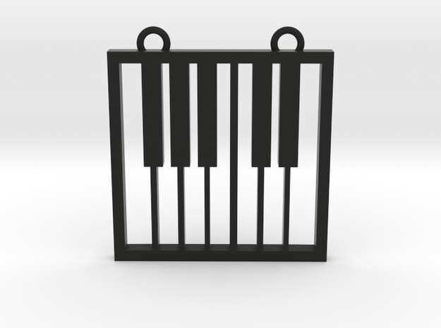 Music Pendant -  Piano Keys in Black Strong & Flexible