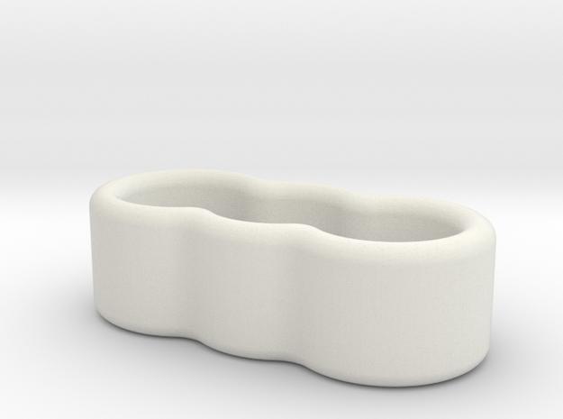 3 Wire Holder 4mm  in White Natural Versatile Plastic