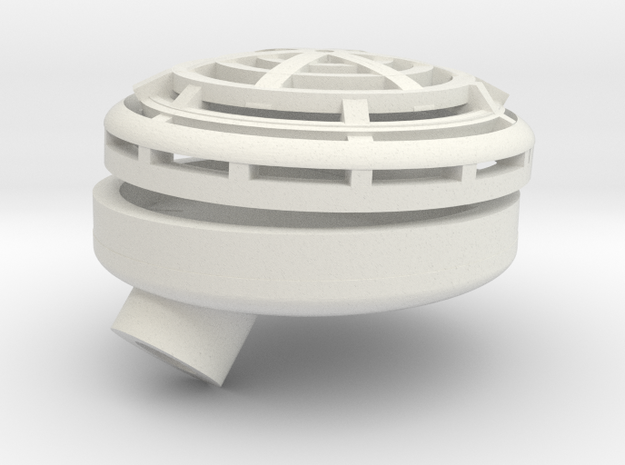 Turbo Tub set up for bearing mount in White Natural Versatile Plastic