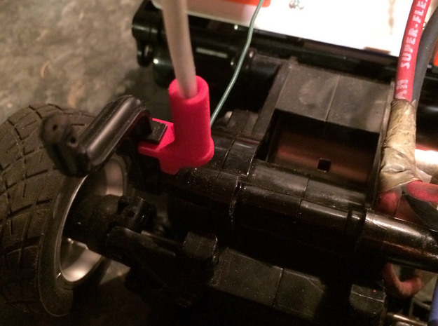 Antenna Mount for Tamiya M02 Chassis 3d printed Installed on an M02L chassis