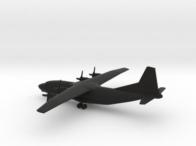 Antonov An-12 in Black Natural Versatile Plastic: 1:350