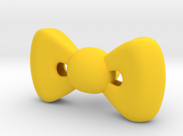 HELLO KITTY RIBBON SMALL 44mm  in Yellow Processed Versatile Plastic